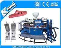 Automatic PVC airblowing PCU shoe slipper sandal injection molding machine