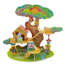 Forest Cabin Series Tree House DIY 3D Wood House Jigsaw