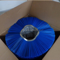 flat or convoluted tractor mount sweeper brushes