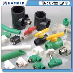 HAMBER hdpe upvc polyethylene plastic pvc pipe fitting pe ppr pipe and fitting ppr pipe fitting tools ppr fitting manufacturer