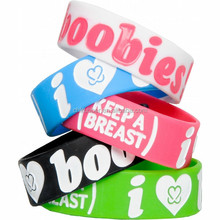 2015 hottime promotional thin funny silicone wristband