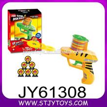 Brinquedo de plástico arma de brinquedo disco voador do menino com 24 balas