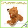 mini de color marrón de peluche de juguete osito de peluche con moño