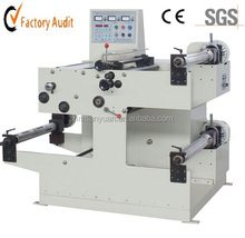 XMY-550 automatic label cutter,label roll unwinder,label slitting and rewinding machine