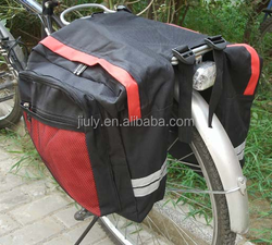 2015 double rear pannier saddle bicycle bag waterproof bicycle bag folding bike bag