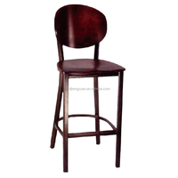 Durable Metal Gang Chair/wooden saddle/copper vein legs /T185B