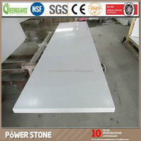 Artificial Pure White Prefab Quartz Vanity Tops