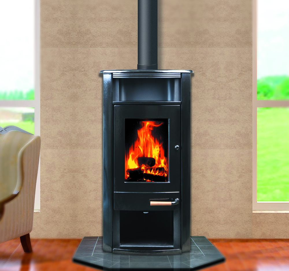 Hiflame Vertical Cylinder Cast Iron Wood Stove Hf917ua