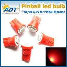 T10 194 Ba9s SMD Pinball LED AC/DC 6.3V red light 194SMD-P-1R