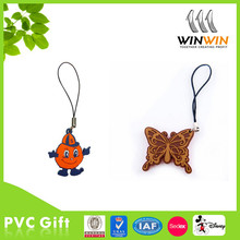 popular Japanese anime picture soft pvc mobile phone strap