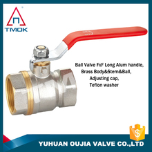 brass female ball valve for gas for water polishing CW617n material o-ring 600 wog manual power three way with CE approved