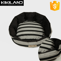 2015 New Arrival Round Black and White Striped Compound Dog Bed