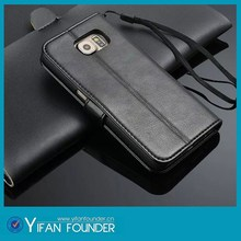 high quality pu leather case for samsung galaxy s6 with belt