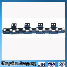 standard double pitch conveyor transimission chain with attachments