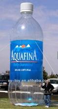 promoción inflable botella de agua mineral
