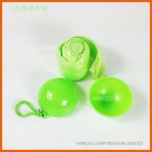Plastic Emergency Promotional Disposable Raincoat Ball