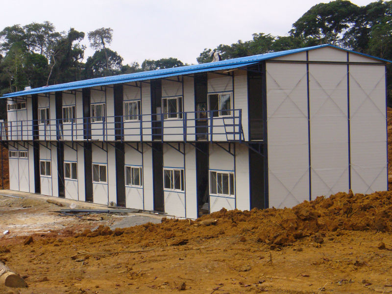 Steel Frame Low Cost Luxury Prefab Homes Used As Dormitory