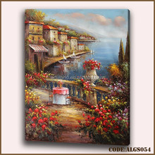 Handmade seaside canvas painting