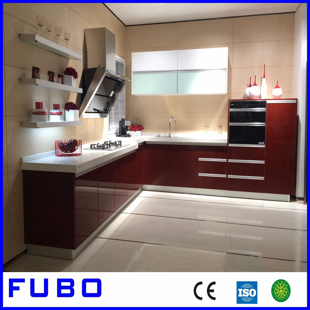 Modern kitchen cabinet simple designs buy kitchen cabinet for Simple modern kitchen cabinets