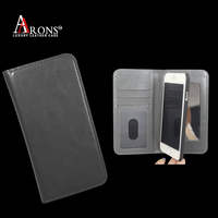 Wallet type leather phone case with mirror inside mobile phone cover