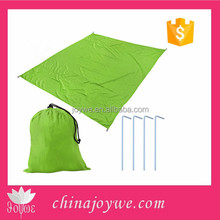 Used as Outdoor Camping Gear, Oversized Mat, Shade Tar Beach Blanket with Nylon Tote Pouch & 4 Stakes / Pegs