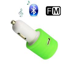 OEM Logo Branding Dual USB ABS mini usb car charger for Mobile phone/ Navigator / Bluetooth Earphone