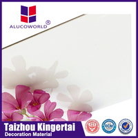 Alucoworld decorative plastic wall covering aluminum composite sheet perforated metal wall panel