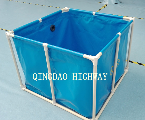 Folding collapsible pvc fish ponds for aquaculture buy for Portable koi pond