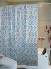 New design peva or pvc shower curtain,pvc and polyester seamed shower curtains