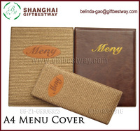 Hotel and resaurant A4 weave menu cover