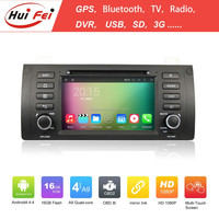 Quad core A9 16GB android 4.4.4 1024*600 HD car dvd player with GPS navigation wifi 3G usb OBD radio RDS tv video bluetooth dvd