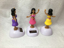 baby doll solar powered doll toys solar powered dancing hula-hula girl, car decorative gift sun doll factory wholesale