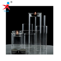 blown borosilicate glass tube for candle holder