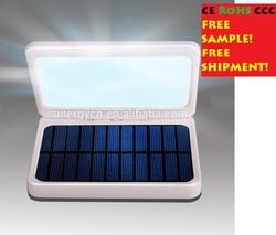 7000/4000mAh Dual port usb portable solar power bank charger