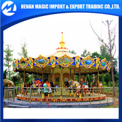 Hot selling 25 seats amusement equipment outdoor carousel for sale, carousel horses