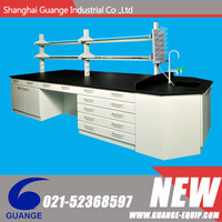 Total steel experiment table with visible handles, big drawer with 45 degree edge SHGG- G51011 (WDH-020)
