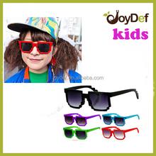 Kid sunglasses,children sun glasses, cheap promotional kids 8 pixels funny sunglasses