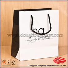 2015 Latest Custom Design Paper T shirt packaging bag, handmade paper bags designs