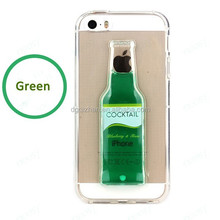 factory price cocktail liquid phone case for apple mobile