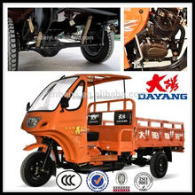 Chinese Zambia 200cc 2 seats 3 wheel tricycle cargo with best price