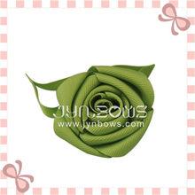 Solid Grosgrain Green Hairbow-Hairclip- Korean Hair Ribbon