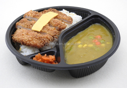 3-compartment eco friendly disposable bento lunch box containers