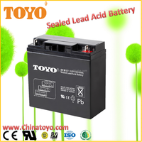 Maintenance Free Sealed Lead Acid Battery, 12v17ah Small Rechargeable Battery