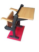 XJ-K10C bench yellow metal frame two seater school desk chair