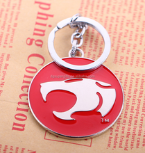 high quality round shape red color Thunder Cats keychain keyring