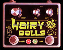 BIG JOHN Effects: BIG JOHN Hairy Balls Gated Fuzz, Boost & Drive Dual Effects Pedal