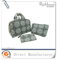 2016 factory produce monogrammed cosmetic bags