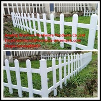 China best supplier white outdoor plastic garden fence panels