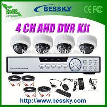 1.0/1.3 Megapixel HD CCTV Camera kit ahd dvr 8ch 2.8-12mm Manual Zoom Lens