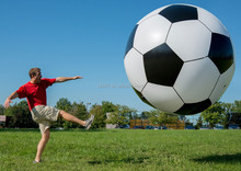 inflatable giant soccer ball for outdoor play